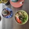 7/3(金)味噌ダレ冷やしうどん、素のペペロンチーノ