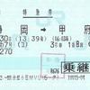 ふじかわ7号(コ) 特急券