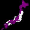 日本でちゃんと観光した都道府県を塗ってみた。