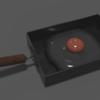 【Blender】卵焼き器を作った