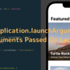 XCUIApplication.launchArgumentsとArguments Passed On Launch
