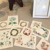 新作の花模様カード