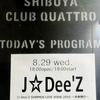 J☆Dee'Z(ジェイディーズ) SUMMER LIVE TOUR 2018~未来飛行~ 渋谷CLUB QUATTRO