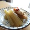 ふきと油揚げの煮物(ごま油ピリ辛風味)