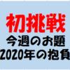 【はてなブログ今週のお題初挑戦!!「2020年の抱負】