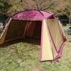 葉桜を見に青根キャンプ場まで行ってみた。タフスクリーン2ルームハウス初設営。(相模原市緑区)