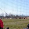 応援しているサッカーチームの練習試合をチラ見した
