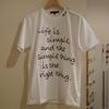ハンドル刺繍 Tシャツ。