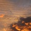 私が撮影した龍の雲!!台風を引き連れて日の出と共に現れた!ここは新潟!