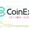 仮想通貨で配当生活♪CoinEx・CET編2か月目。グラフで見る8月まとめ。