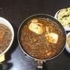 麻婆豆腐、味噌汁、大根ぽりぽり、白菜サラダ