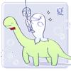 しろいるかちゃんと恐竜さんのファンアート
