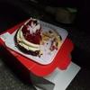 路上ケーキとマダム