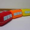 フェルトで電車のおもちゃを作ってみました