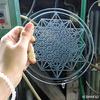 神聖幾何学デザイン ガラス作品の制作工程