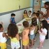 4歳の誕生会を幼稚園で