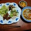 幸運な病のレシピ( 2410 )朝:糠漬けモツの煮込み、豚のサガリ炒め、バンバンジー