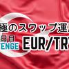 ユーロ/トルコリラ | スワップ運用 23日間運用で原資に対し2.2倍の利益達成!