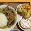 【今日の食卓】グリーンカレーと生春巻