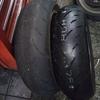 #バイク屋の日常 #ホンダ #ホーネット #MC31 #タイヤ交換 #スリックタイヤ