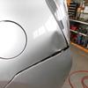 プリウス 30系(リヤクォーターパネル)ヘコミの修理料金比較と写真 初年度H21年、型式ZVW30
