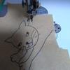 直線ミシンでフリーモーション刺繍をやってみた