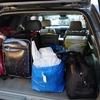 テラノレグラスの後部座席をシートアレンジして家族3人分の1泊スキー旅行用の荷物を積んでみた~右側後部座席のみをフルフラットに~