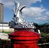 銀の鯱瓦がのってる『尼崎城シャチホコ丸ポスト』&天守閣風の『尼崎城址公園』【兵庫県尼崎市】