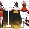 【イラスト】オリジナルの衣装デザインを描いてみました!テーマ【和洋】