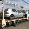 福生市から車検切れの外車をレッカー車で廃車の出張引き取りしました。
