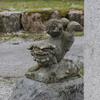 天日陰比咩神社にも逆さ狛犬がいる