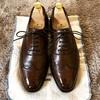 本日の革靴ケア クロケットアンドジョーンズ タビストック