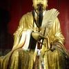 中国の成都、「武侯祠、錦里」の写真と注意が1つ