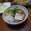 幸運な病のレシピ( 432 )昼:蕎麦セット、半額天ぷら、ビンチョウマグロソテー、カレイ煮つけ