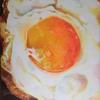 最近購入した絵画について⑧『卵4(目玉焼き)』(濱浦敦子)