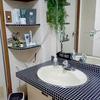 古い賃貸DIY~洗面所❷~リメイクシートを洗面台に貼ってみる