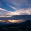 夏の田舎の夕方の写真