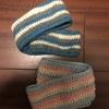 3年連続、子供のマフラーを編んでいます 今年は模様編みに挑戦