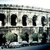 ニームの古代ローマ円形闘技場の外観