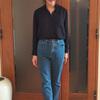 青タブのプレミアムデニムで透け感・抜け感・とろみ感を大人コーデ