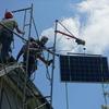 太陽光発電システム工事初日
