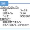 2017/05/16 インターバル1000m×4本(つなぎ200m)