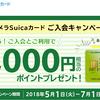 ビックカメラSuicaカードの入会キャンペーン2018年!最大8000円相当もらえる!
