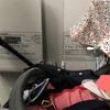 ベビー、初めての新幹線。ベビーカー収納できるいい席を確保しました。