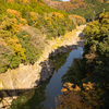 神通峡の秋