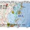2017年09月10日 12時50分 宮城県沖でM4.3の地震