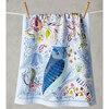 幸せの使者ふくろうの刺繍が可愛いアンソロポロジー、ティータオル入荷しました。