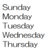 小学生の自主勉ネタ(8)曜日・月を英語で