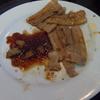 幸運な病のレシピ( 1526 )夜:焼き肉(ベルのたれ)、枝豆、オクラ、汁