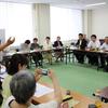 10日、避難の共同センターが国会議員、県議との懇談会を開催。